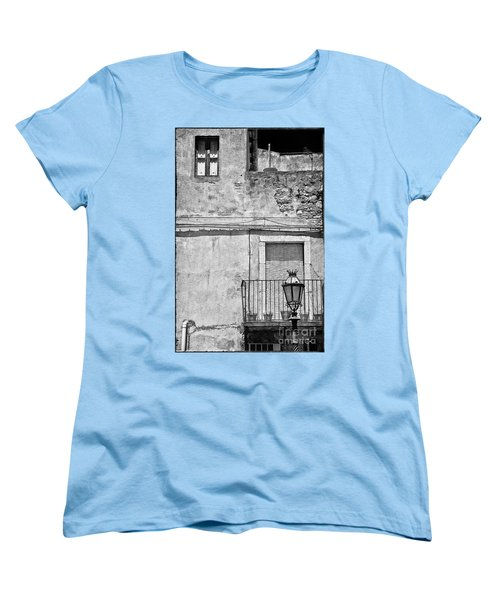 Old House In Taormina Sicily Women's T-Shirt (Standard Cut)