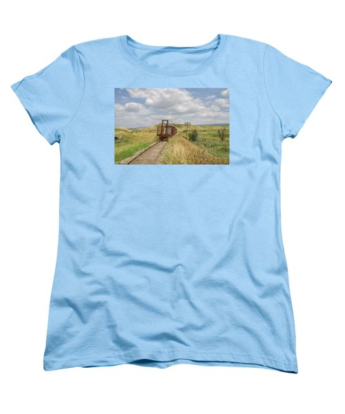 Jezre'el Valley Old Railway Station Women's T-Shirt (Standard Cut) by Uri Baruch