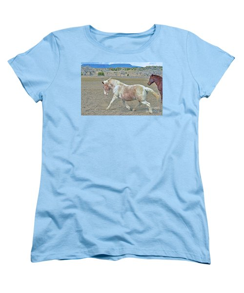 Women's T-Shirt (Standard Cut) featuring the photograph Old Mare by Debby Pueschel