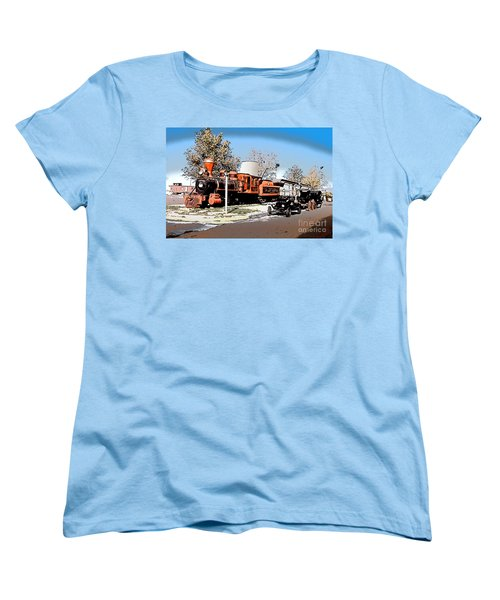Old Pioneer Train Western Village Las Vegas Women's T-Shirt (Standard Cut) by Wernher Krutein