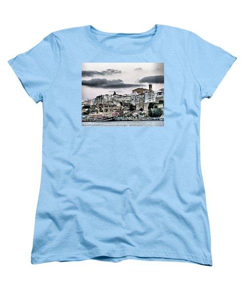 Old Port Mahon And Italian Sail Training Vessel Palinuro Hdr Women's T-Shirt (Standard Cut)