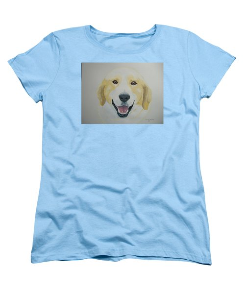 Women's T-Shirt (Standard Cut) featuring the painting Old Shep by Norm Starks