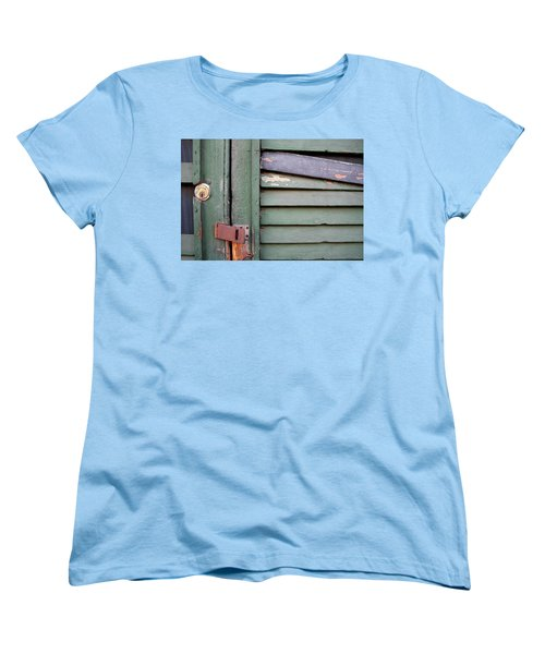 Women's T-Shirt (Standard Cut) featuring the photograph Old Shutters French Quarter by KG Thienemann