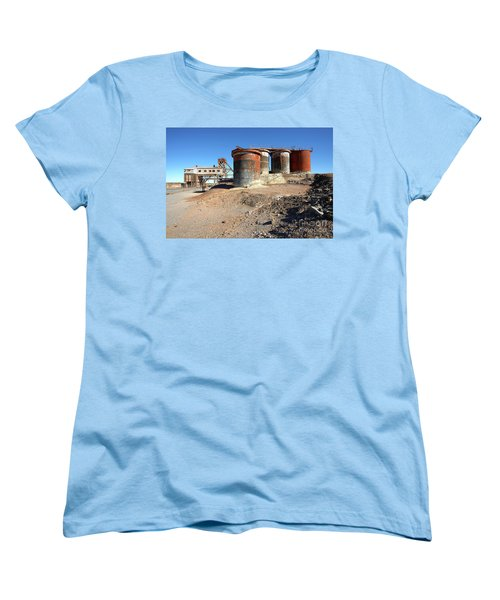 Women's T-Shirt (Standard Cut) featuring the photograph Old Silver Mine Broken Hill by Bill Robinson