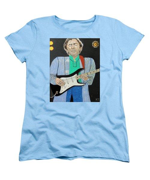 Old Slowhand. Women's T-Shirt (Standard Cut) by Ken Zabel