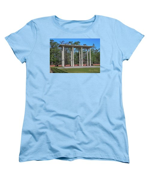 Women's T-Shirt (Standard Cut) featuring the photograph Old Student Union Arches by Gregory Daley  PPSA