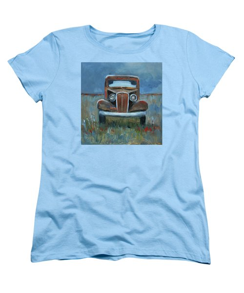 Women's T-Shirt (Standard Cut) featuring the painting Old Timer by Billie Colson