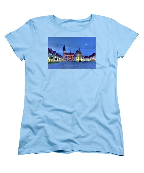 Old Town Square In Bardejov, Slovakia,hdr Women's T-Shirt (Standard Cut) by Elenarts - Elena Duvernay photo
