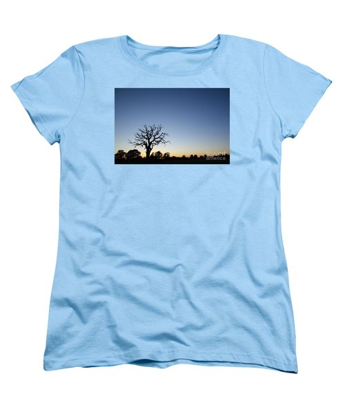 Old Tree Silhouette Women's T-Shirt (Standard Cut) by Kennerth and Birgitta Kullman