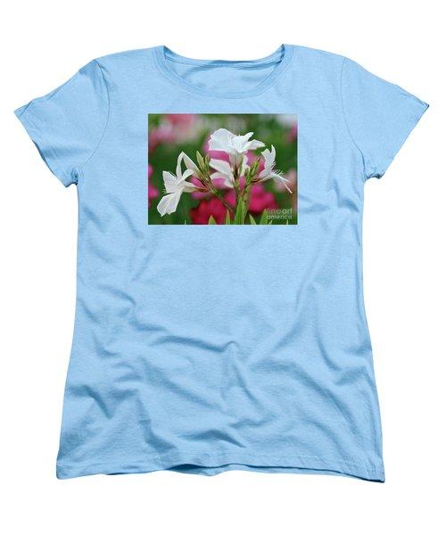Women's T-Shirt (Standard Cut) featuring the photograph Oleander Casablanca 1 by Wilhelm Hufnagl