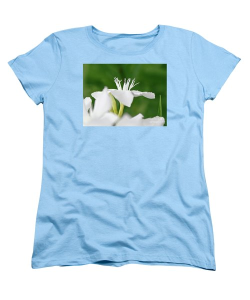 Women's T-Shirt (Standard Cut) featuring the photograph Oleander Ed Barr 1 by Wilhelm Hufnagl