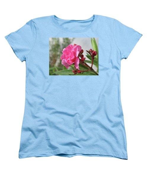 Women's T-Shirt (Standard Cut) featuring the photograph Oleander Splendens Giganteum 4 by Wilhelm Hufnagl