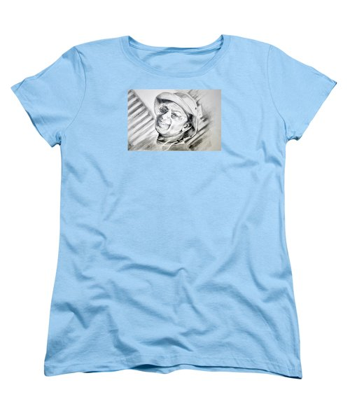 Women's T-Shirt (Standard Cut) featuring the drawing Ollie Christmas by Antonia Citrino