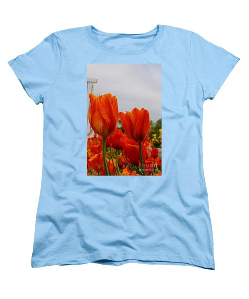 Women's T-Shirt (Standard Cut) featuring the photograph On Fire by Robert Pearson