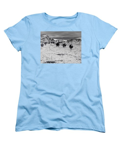 On Our Way Women's T-Shirt (Standard Cut) by Keith Elliott