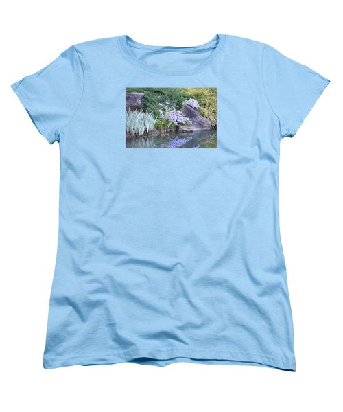 On The Banks Of The Pool Women's T-Shirt (Standard Cut) by Linda Geiger