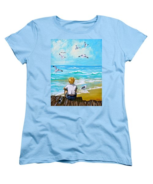 On The Boardwalk Women's T-Shirt (Standard Cut) by Karon Melillo DeVega