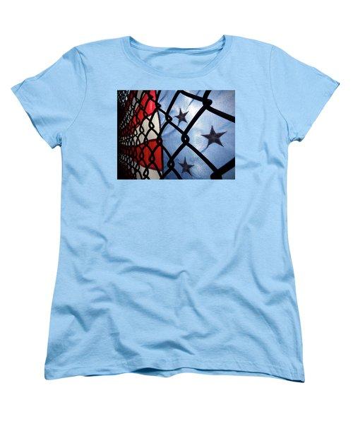 Women's T-Shirt (Standard Cut) featuring the photograph On The Fence by Robert Geary