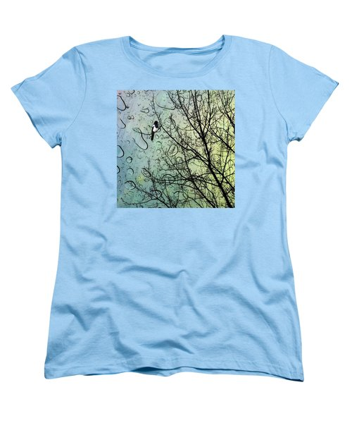 One For Sorrow #nurseryrhyme Women's T-Shirt (Standard Cut) by John Edwards