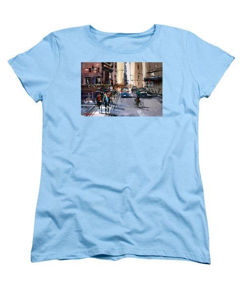 One Way Street - Chicago Women's T-Shirt (Standard Cut) by Ryan Radke