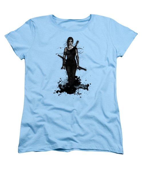 Women's T-Shirt (Standard Cut) featuring the digital art Onna Bugeisha by Nicklas Gustafsson