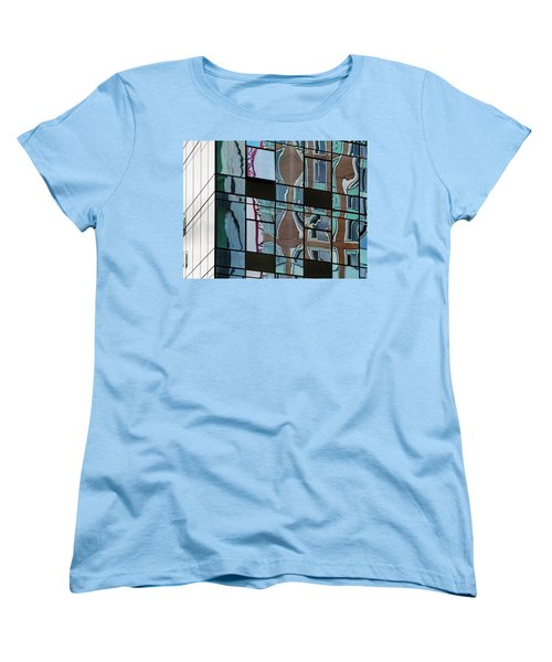 Women's T-Shirt (Standard Cut) featuring the photograph Op Art Windows I by Marianne Campolongo