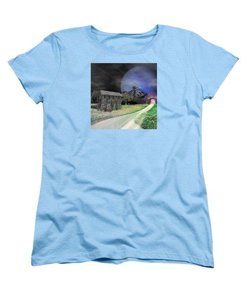 Open Portal Women's T-Shirt (Standard Cut) by Ally  White