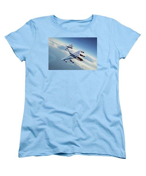 Women's T-Shirt (Standard Cut) featuring the digital art Operation Heat Rise by Peter Chilelli