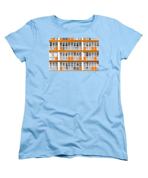 Orange Exterior Decoration Details Of Modern Flats Women's T-Shirt (Standard Cut) by John Williams