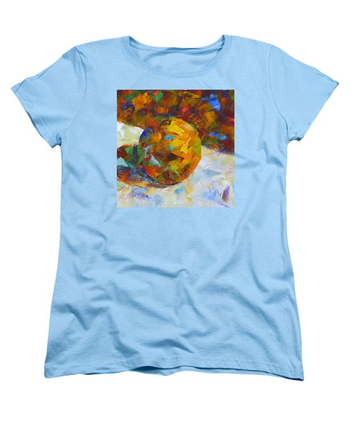 Orange Flash Women's T-Shirt (Standard Cut) by Susan Woodward