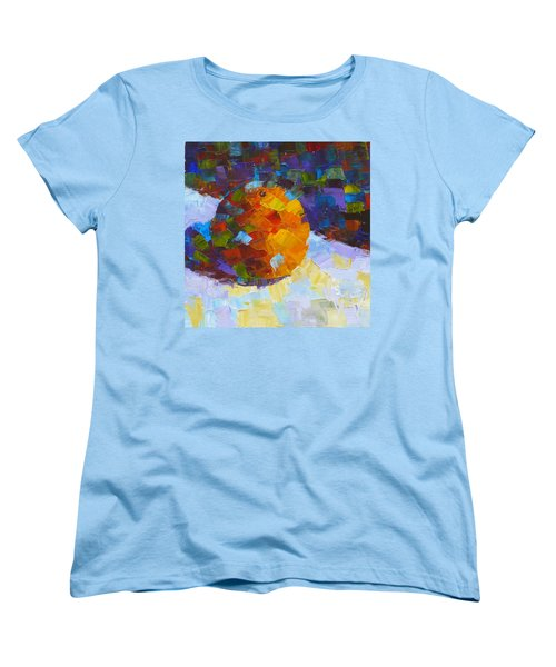 Orange Mosaic #3 Women's T-Shirt (Standard Cut) by Susan Woodward