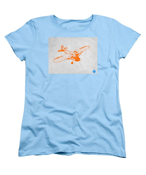 Orange Plane 2 Women's T-Shirt (Standard Cut) by Naxart Studio