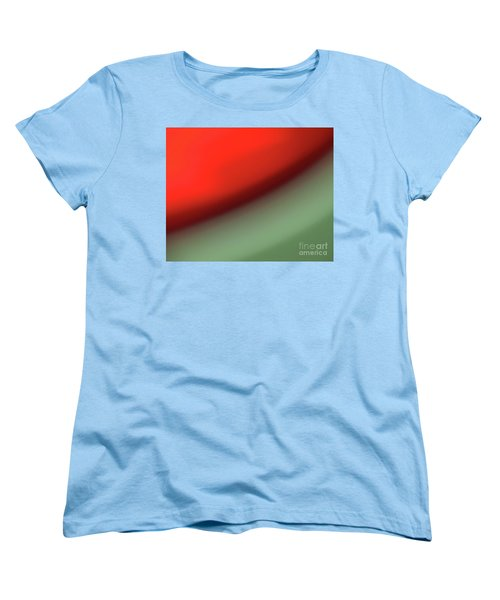 Women's T-Shirt (Standard Cut) featuring the photograph Orange Red Green by CML Brown