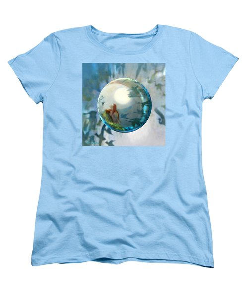Women's T-Shirt (Standard Cut) featuring the painting Orbital Flight by Robin Moline