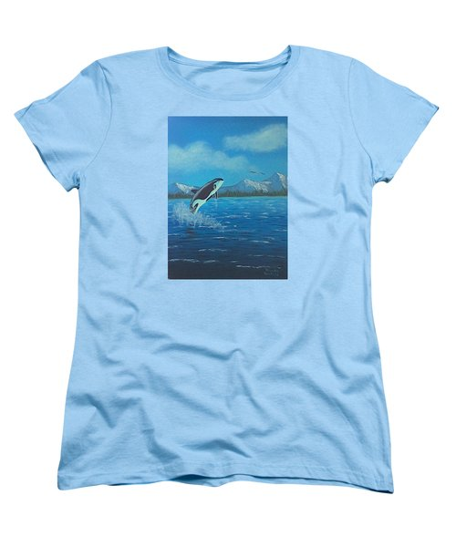 Orca Women's T-Shirt (Standard Cut) by Brenda Bonfield