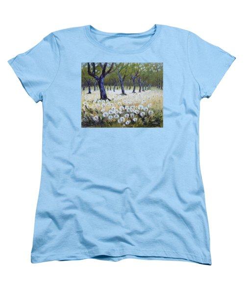Orchard With Dandelions Women's T-Shirt (Standard Cut)
