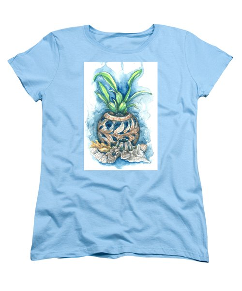 Orchid And Barnacle Women's T-Shirt (Standard Cut) by Ashley Kujan