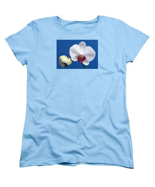 Orchid Out Of The Blue. Women's T-Shirt (Standard Cut) by Terence Davis
