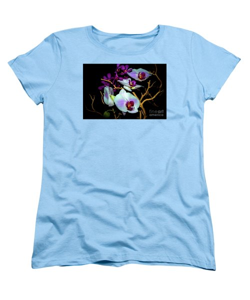 Women's T-Shirt (Standard Cut) featuring the photograph Orchids In Water Color by Diana Mary Sharpton