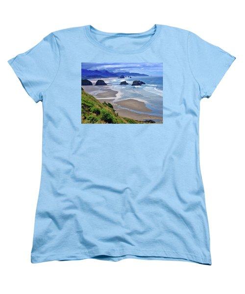 Oregon Coast Women's T-Shirt (Standard Cut) by Scott Mahon