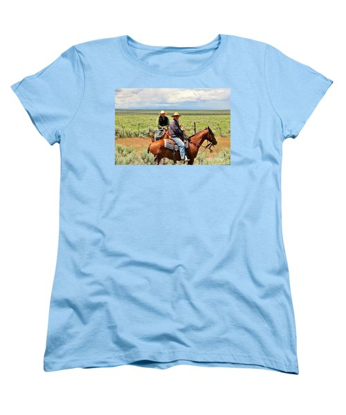 Oregon Cowboys Women's T-Shirt (Standard Cut) by Michele Penner