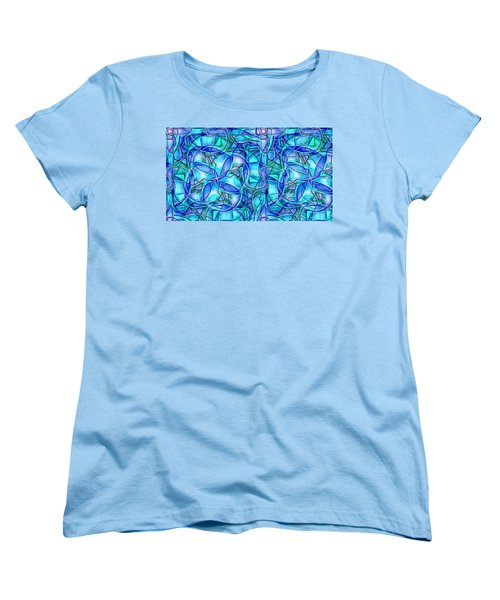 Women's T-Shirt (Standard Cut) featuring the digital art Organic In Square by Ron Bissett
