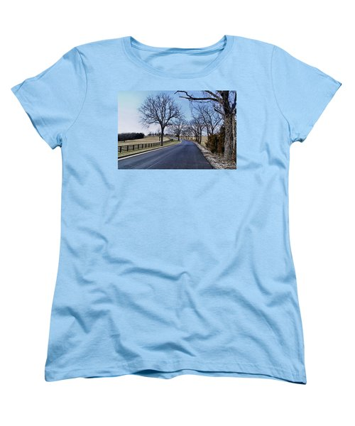 Women's T-Shirt (Standard Cut) featuring the photograph Osage County Road by Cricket Hackmann