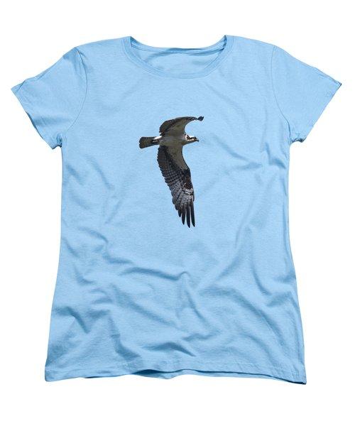 Osprey In Flight 2 Women's T-Shirt (Standard Cut) by Priscilla Burgers