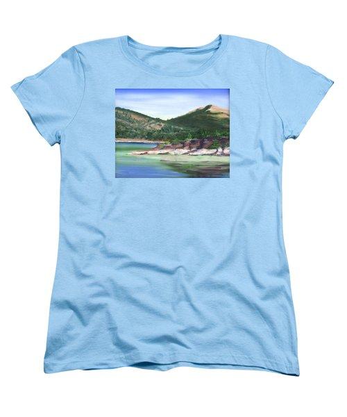 Osprey Island Flaming Gorge Women's T-Shirt (Standard Cut) by Jane Autry