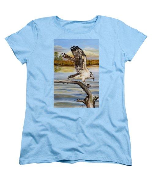 Osprey Landing Women's T-Shirt (Standard Cut) by Phyllis Beiser