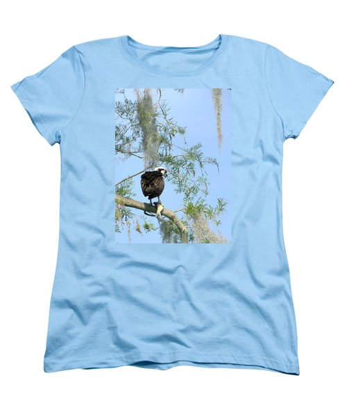 Osprey With A Fish Women's T-Shirt (Standard Cut) by Chris Mercer