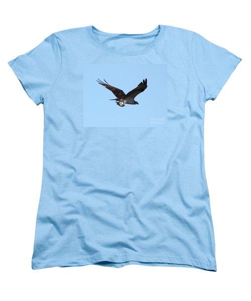 Osprey With Fish Women's T-Shirt (Standard Cut) by Carol Groenen