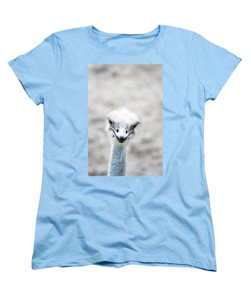 Ostrich Women's T-Shirt (Standard Cut) by Lauren Mancke