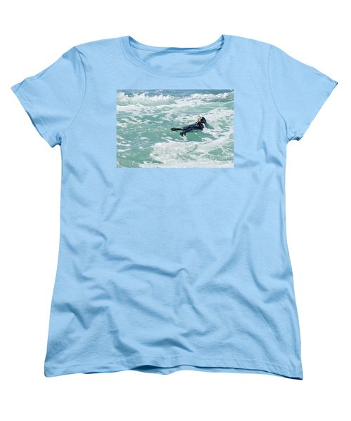 Otter At Montana De Oro Women's T-Shirt (Standard Cut) by Michael Rock